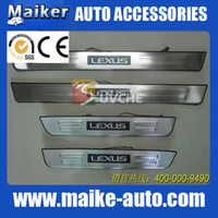 Wholesale BYD S6 Lexus mark LED Door sill plate scuff plate footplate stainless steel SUV cars Auto Accessories Auto Parts