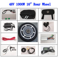 Wholesale 16 quot Rear Wheel V W Electric Bicycle E bike Conversion Kits LCD Screen powerful Motor New