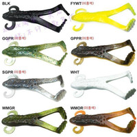 other Lake Lure Soft Plastic Frog Odor Worm Buzz Frog Bass Lure 100mm 13.7g 20 Pcs lot
