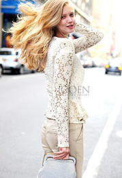 Wholesale 2014 Spring and autumn top coat lace shrugs business blazer ladies suit outwear women career office work formal slim jacke