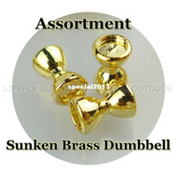 other bead assortment - 3 Sizes Assortment Sunken Brass Dumbbell Beads Recessed Barbell Eyes Gold Color Fly Tying Fishing