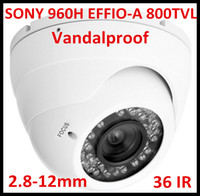 Wholesale New Arrival Security CCTV TVL Sony Effio A H day and night infrared IR LED vandalproof CCD Camera with mm varifocal lens