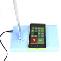 Wholesale 21 LED STY Foldable Desk Lamp LED Touch Table Lamp with Wireless Charging Pad for Qi Devices Hot Sale