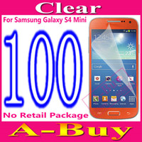 Wholesale Clear Glossy Screen Protector Guard Film For Samsung Galaxy S4 Mini i9190 i9195 No Packaging