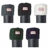 Polyester winter socks - Women Knitted Rain Boots Socks Autumn Winter Welly H Rainboots Long Socks Colors TS9