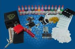 Wholesale 2014 new HOT SELLING Tattoo Kit Guns Power Inks Needle Tip Skin High Qality