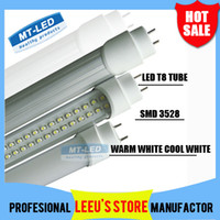 T8 18w SMD 3528 X50 FREE SHIPPPING LED T8 Tube 18W 1800LM SMD 3528 288 LEDS Light Lamp Bulb 4 feet 1.2m 110-240V led lighting fluorescent 2 year warranty