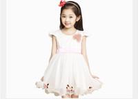 TuTu good evening - 2014 New Arrival Summer Flower Girl Dress Satin Net Yarn Good Quality Children Princess Evening Dress Kids Party Dresses GX89