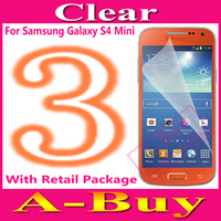 Wholesale Clear Glossy Screen Protector Guard Film For Samsung Galaxy S4 Mini i9190 i9195 With Retail Package