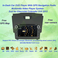 Wholesale Chevrolet S10 Colorado GPS Navigation in dash Car DVD multimedia Player system din car radio stereo Free camera