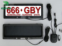 Alarm Systems & Security plates - Australia Car License Plate Frame with remote control car licence frame cover plate