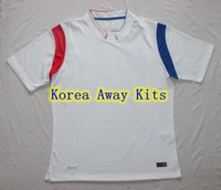 Soccer Men Short Korea National Team White Away Soccer Kits FIFA2014 World Cup Jerseys Thailand Quality Cheap Custom Football Jersey Breathable Sport Jersey