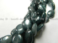 Acrylic, Plastic, Lucite   13x18mm Black Tourmaline Oval Gemstone Loose Beads 15''