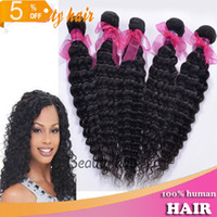 Brazilian Hair Deep Wave machine 2014 Brazilian Virgin Hair Deep Wave Curly Hair Weave Mixed 3 or 4pcs 100% Real Natural One Donor Human Bulk Hair Bella Dream Online Hair