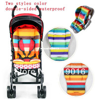 Wholesale New waterproof baby Stroller Cushion Stroller Pad Pram Padding Liner Car Seat Pad Rainbow general cotton thick mat free delivery