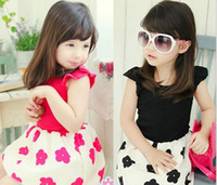 Wholesale New Arrival Summer Children Sleeveless Dress Titoni Pure Cotton Girl Casual Dresses Year Baby Kid s Clothing Wear GX91