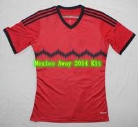 Wholesale AAA Thai Qualit Mexico Away Soccer Sets Thai Shirts And Thai Shorts
