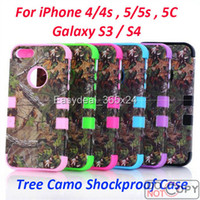 Wholesale Realtree camo case Serie For iPhone C S Samsung Galaxy S4 I9500 S3 I9300 Case Hybrid Silicone Plastic