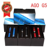 Electronic Cigarette Set Series Black Sales Promotion Free Ship For 2014 Hottest Items Ago G5 Dry Herb Vaporizer Electronic Cigarette Pen kit LCD Puff Counts Portable Pen Style