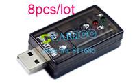 Wholesale 8pcs D USB Virtual Channel Audio Sound Card Adapter