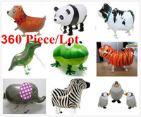 aluminum foil - 360 Hybrid models of animal balloons aluminum foil balloon walking pet balloons Walking Animal Balloon Party toys children toys