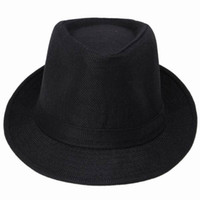 Wholesale New Fedoras Hats Hemp Cotton Black Charms Fashion Women Men Unisex Bucket Sunblock Outdoor Beach Hat Jazz Hat DWT5