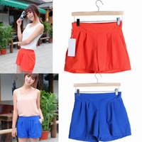 Wholesale Sexy Women Lady Chiffon Candy Shorts Summer Soft Casual Beach Short Pants Colors Choose DZB