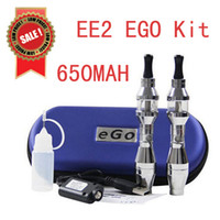 Cheap Sales Promotion Free Ship For 2014 Hottest Items EGo Double Stem EE2 ego Kit 650MAH Battery in Ziper Case