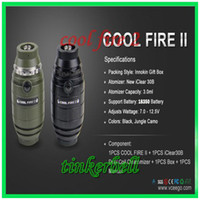 Single Green Metal New Vapes Innokin Cool Fire II Starter Kit Innokin Coolfire 2 Kit Cool Fire2 Kit with Max Vapor DHL