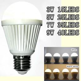 New Arrival LED Bulbs B22 Globe Bulb Lights 3W 5W 7W 9W E27 B22 Led Lamp White Warm White smd 2835 Led Light Free shipping
