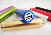 Wholesale 2600mAh Power Bank Metal Cylinder USB External Mobile Portable Battery
