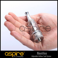 Replaceable 5.0ml Metal Wholesale - Aspire Nautilus adjustable airflow Tank System airflow control Clearomizer atomizer BDC dual coil Glassomizer in stock
