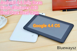 Wholesale 9 Inch A23 Dual Core Tablet Android Jelly Bean Allwinner A23 Ghz G GSM Phone Call MB RAM GB WIFI Dual Camera Faster Then A13 A20