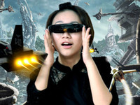 Wholesale 98inch Virtual Video Glasses D Side by Side Google Glass P Mobile Theatre GB AV Input
