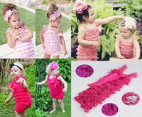 baby petti rompers - 100PCS Newborn Infant Baby Girl Lace Posh Petti Ruffle Rompers TUTU with strap Year