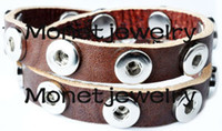 Wholesale S00001 OEM ODM welcome hot sale TOP leather noosa double button chunks bracelet for mm noosa chunk