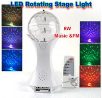 Wholesale 6W RGB Full color LED the Music football Stage Light with Music FM V Auto controll Manual Controll Watt Lamp