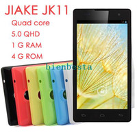No Brand 5.0 Android JIAKE JK11 MTK6582 Quad Core 1.3GHz 5.0 inch 960*540 1GB RAM 4GB ROM 8MP Dual Camera Android 4.2 Smartphone 3G GPS