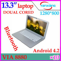 Wholesale DHL inch Android Laptop Netbook Computer G GB WiFi Bluetooth HDMI thin Netbook YX MID
