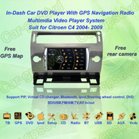 Wholesale 2004 Citroen C4 GPS Navigation in dash Car DVD multimedia Player system din car radio stereo Free GPS map came