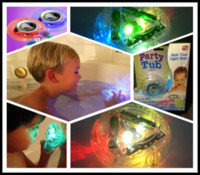 Eco Friendly   Hot Sale Brand New Party in the tub light bathtub light-up toy Waterproof LED Light Toy PreTeens Bath Tub Tizzies 60pcs lot