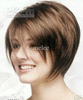 short hair wigs - Charming Short Brown Wig quot Women s Synthetic Fibre Hair Lady s Wigs Bob Hairstyle atural Hair full wigs wig cap