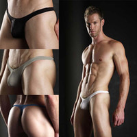 Men G-Strings & T-Back & Thongs New Year Men's Sexy Lingerie Bikini G-string T back Thong Underwear Tight Gay 2pcs lot Size S M L Free shipping