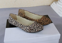 ballet prints - 2014 hot sales Preppy Lady Sexy Leopard Flats Casual Ballet Shoes Slippers Women Lovely Girl