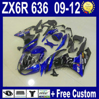 Wholesale 7 Gifts fairing kit for KAWASAKI NINJA ZX6R ZX R ZX R ZX636 blue black bodywork fairings kits Rt1