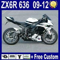 Wholesale 7 Gifts fairing kit for KAWASAKI NINJA ZX6R ZX R ZX R ZX636 silver black bodywork fairings kits Rt20