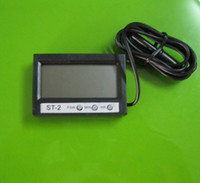 Wholesale In Out LCD Dual Way Digital Car Thermometer amp Clock ST2