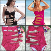 Wholesale Brazil s sexy hollow out a bikini Polyester fabric latest swimsuit bikini Texture is soft and smooth Beach a bikini kinds of color