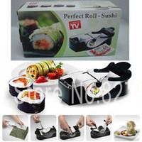 Cheap 6Pcs\Lot Easy Sushi Machine ,sushi Mould ,DIY Sushi Rolls Set japanese kitchen tools, Black,Free shipping