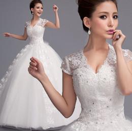 Wholesale Angel s wedding dress new bateau Princess Bride Qi trailing wedding dress